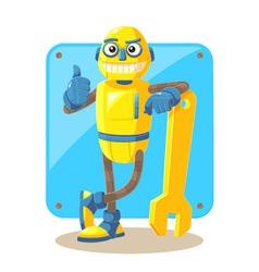Mechanical Robot vector image vector image