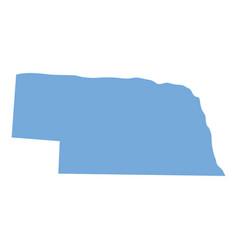 nebraska state map vector image vector image