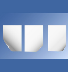 paper sheets with page curl vector image