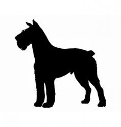 schnauzer silhouette vector image