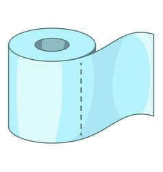 toilet paper icon cartoon style vector image