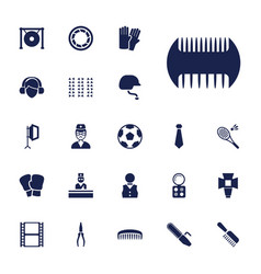 22 professional icons vector