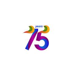 75 years anniversary celebration elegant blue vector