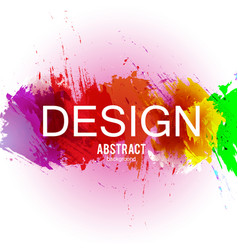 abstract background colorful watercolo vector image