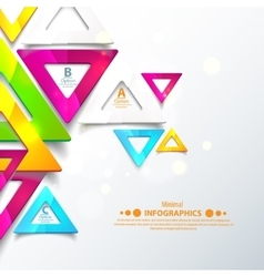 Abstract geometric triangles vector