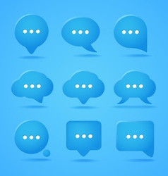 Abstract speech clouds Ready for a text vector image
