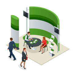advertising exhibition stands mockup 3d vector image