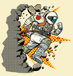 Astronaut breaks the wall vector