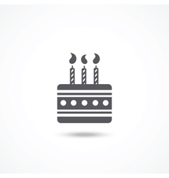 Birthday cake icon vector image