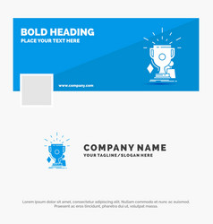 blue business logo template for awards game sport vector image