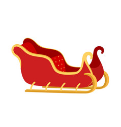 Cartoon sleigh of santa claus sled winter vector