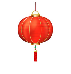 chinese holiday paper lantern sign isolated icon vector image