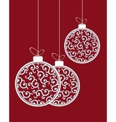 Christmas balls pattern vector