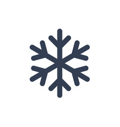 chsnowflake icon black silhouette snow flake sign vector image