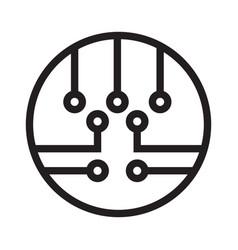 Circles line circuit board semiconductor vector