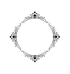 Classic round elegant frame vector