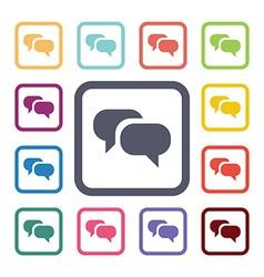 Conversation flat icons set vector