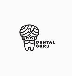 dental guru logo vector image
