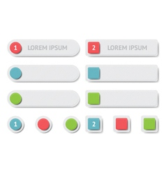 Design elements banners and buttons vector image