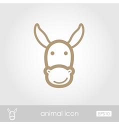 Donkey icon vector image