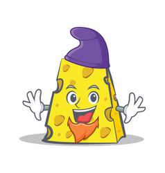 Elf cheese character cartoon style vector