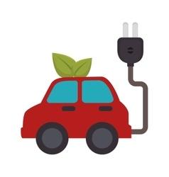 Energy car ecology icon vector