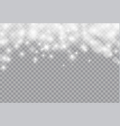 falling shining snow or snowflakes bokeh light vector image