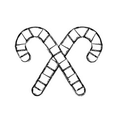 Figure sweet walking stick merry christmas design vector
