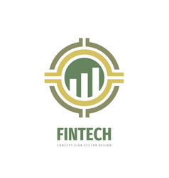 Fintech logo template design exchange market vector