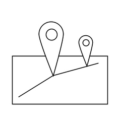 GPS navigation icon outline style vector