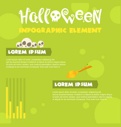 halloween infographic element style collection vector image