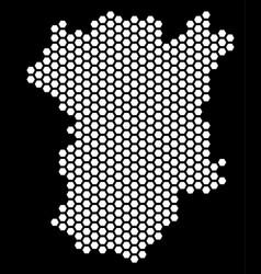Hex tile chechnya map vector