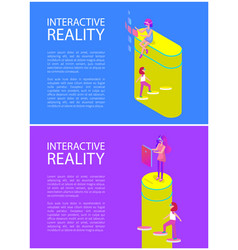 interactive reality goggles vector image