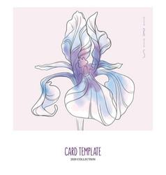 Iris floral creative hand drawn watercolor vector