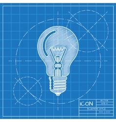 Lightbulb blue icon Eps10 vector