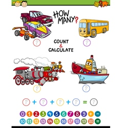 Math educational task for children vector