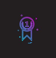 medal icon design vector image