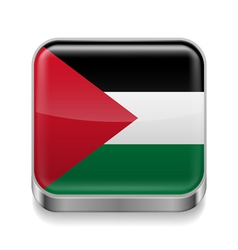 Metal icon of Palestine vector image