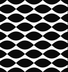 Monochrome curved shape pattern background vector image