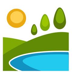 nature landscape flat background vector image