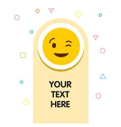 Naughty emoji icon design vector