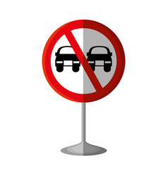 No overtaking traffic signal vector