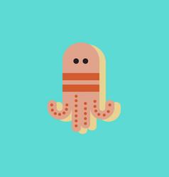 Octopus cartoon in sticker style vector