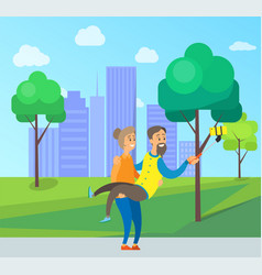 old people taking selfie photo in city town park vector image