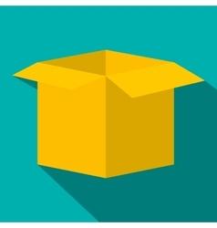 Open empty cardboard flat icon vector image