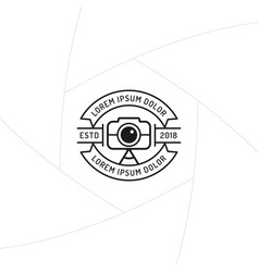 photographer badge or label design vector image