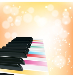 piano musical background with sparkles vector image vector image