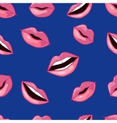 Pink Lips Pattern vector image