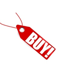 red price tag with word buy on it vector image