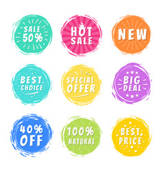 Sale 50 best choice special offer promo stickers vector